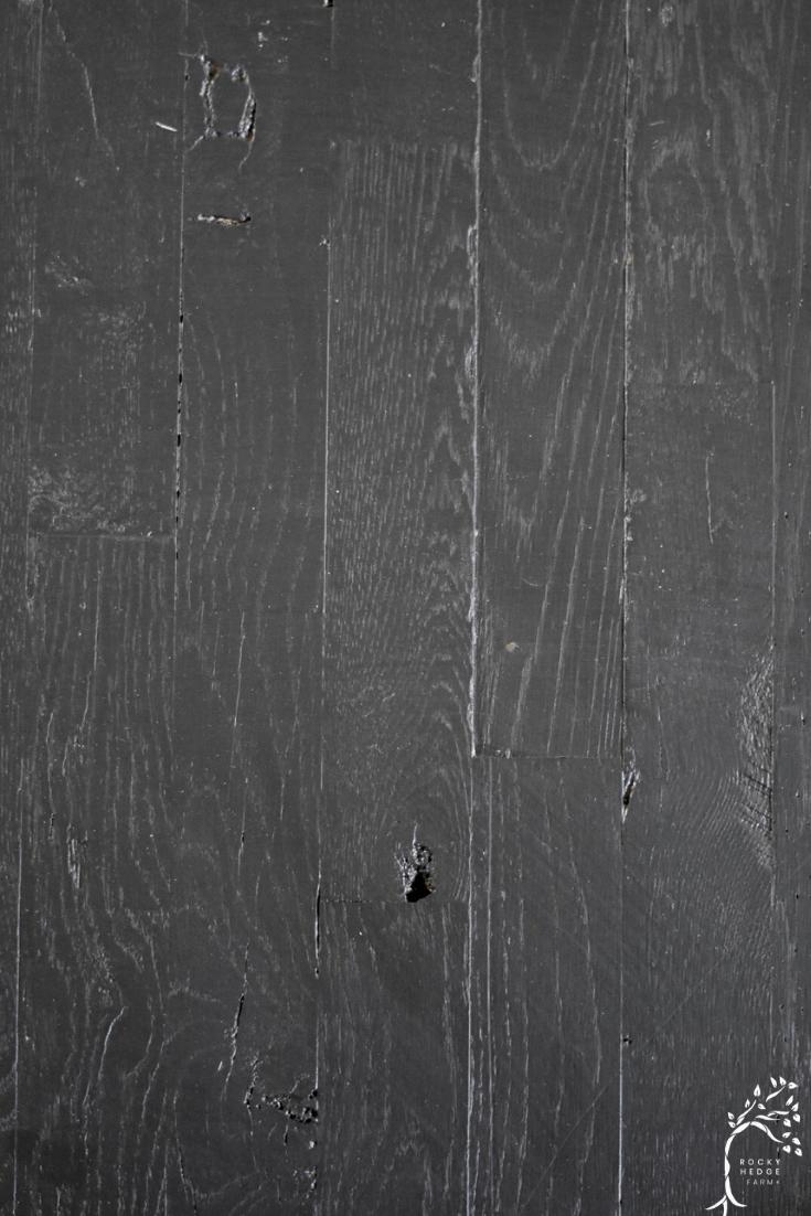 Rustic Black Painted Hardwood Floors Rocky Hedge Farm