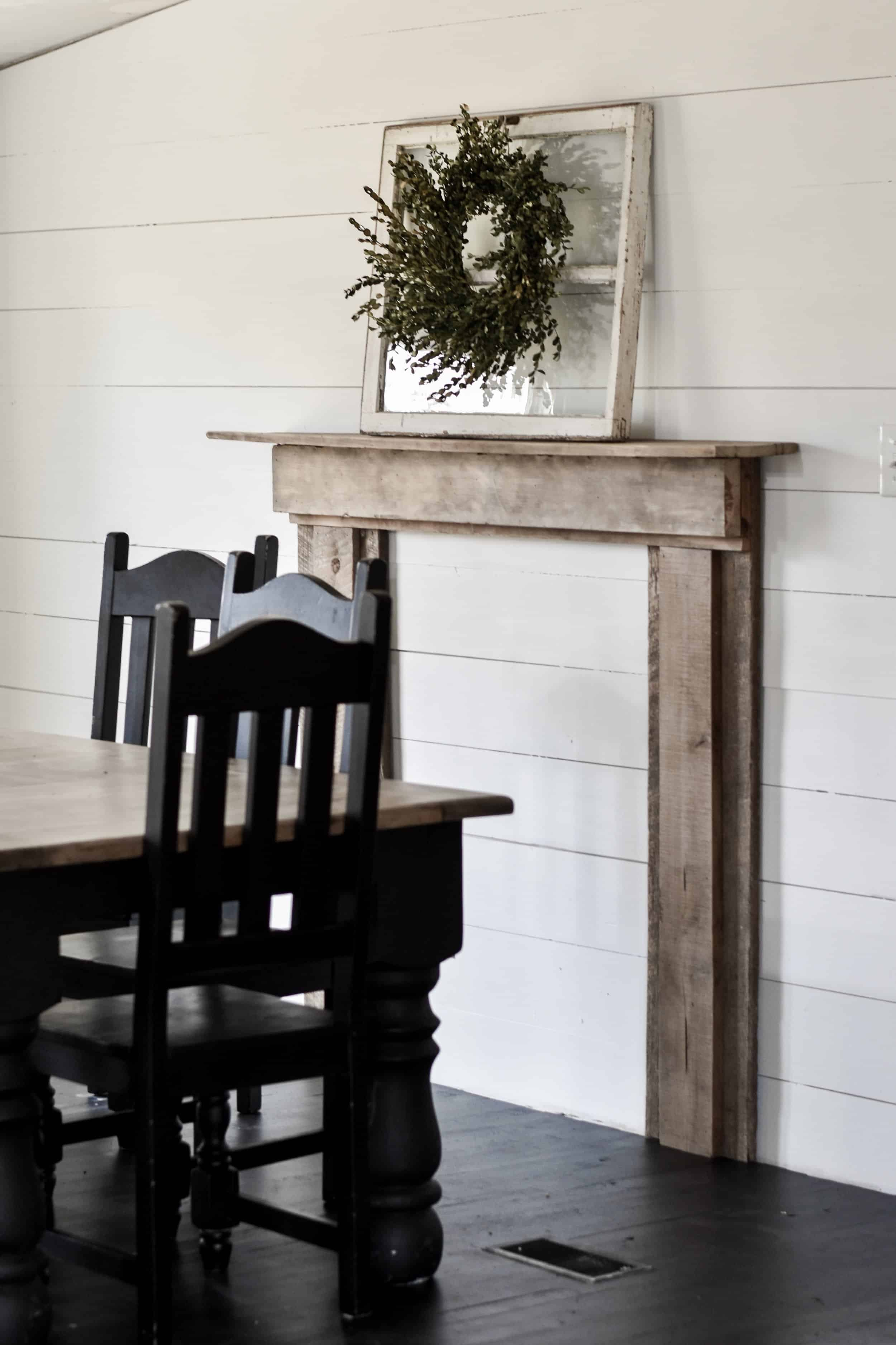DIY Rustic Farmhouse Faux Fireplace and Mantel - Rocky ...